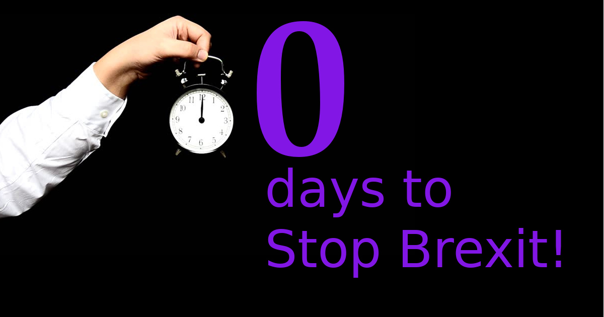12 days to stop Brexit